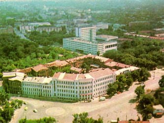 Petroleum institute of a name academician Millionshikov (new and old building)